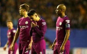 Man City đã tan tành giấc mộng ăn 4 sau thất bại sốc trước Wigan ở FA Cup