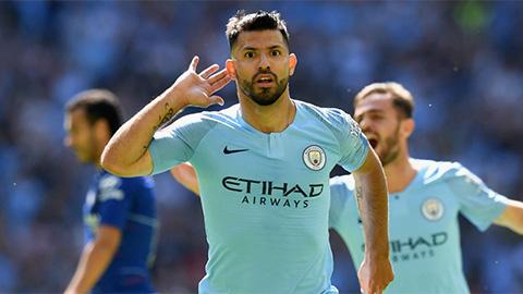 Aguero tỏa sáng rực rỡ mang về chiếc Siêu cúp Anh cho Man City